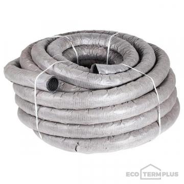 Труба ПЭ дренажная гофрированная d110 в фильтре (50м)