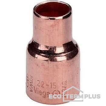 Переход медь пайка двухраструбный VIEGA 22x15 мм