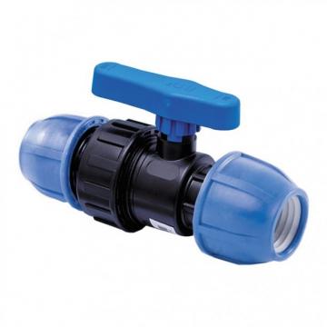 Кран ПНД шаровой компрессионный 20х20 мм