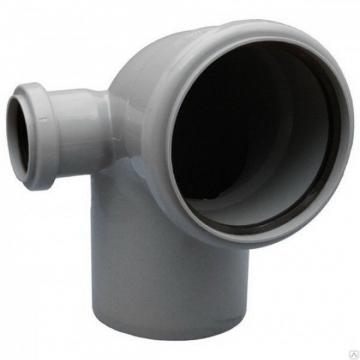 Отвод внутренний 110х50 мм, 90° двухраструбный левый