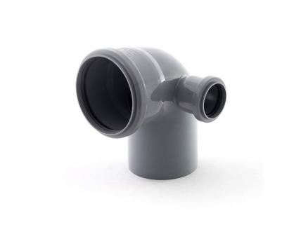 Отвод внутренний 110х50 мм, 90° двухраструбный правый