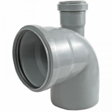 Отвод внутренний 110х50 мм, 90° двухраструбный с верхним выпуском