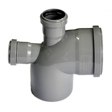 Отвод внутренний 110х50 мм, 90° трехраструбный с верхним и тыловым выпуском