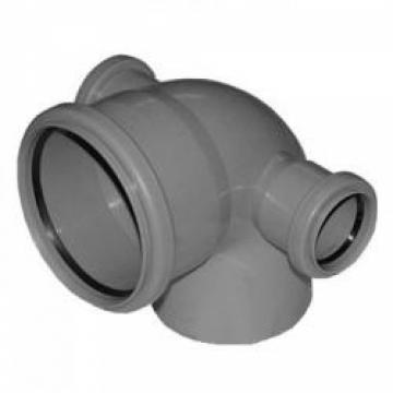 Отвод внутренний 110х50х50 мм, 90° трехраструбный с выпусками направо и налево