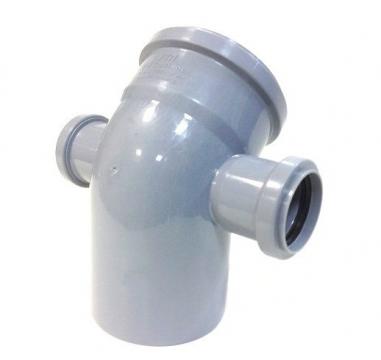 Отвод внутренний 110х50х50 мм, 45° трехраструбный с правым и левым выпусками
