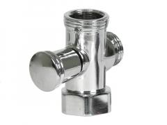 Дивертор для смесителя кнопочный (цинк) 20756