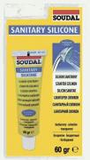Герметик силиконовый санитарный SOUDAL бесцветный 60 г