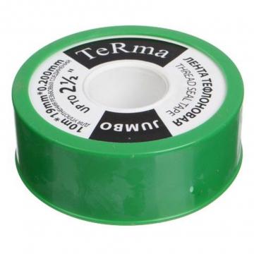 """Фум лента TeRma JUMBO 2 1/2"""" (19 мм х 10 м х 0,2мм)"""