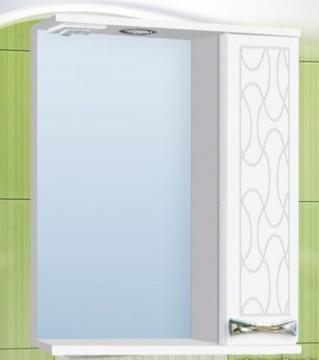 Шкаф зеркальный Vako Винтаж 600 с подсветкой, правый