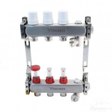 Коллекторный блок с расходомерами PRO AQUA 4 выхода