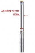 Насос скважинный BELAMOS 3JNR-45/3, кабель 15 метров