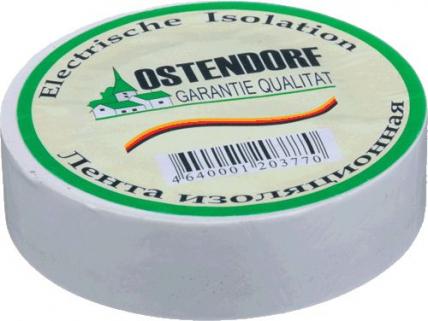 Изолента белая Ostendorf 15мм*20м